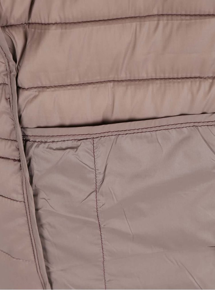 Jachetă vișinie ONLY Tahoe matlasată