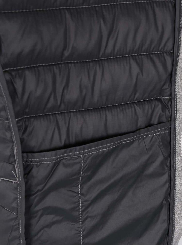 Prešívaná bunda v striebornej farbe s kapucňou ONLY Tahoe
