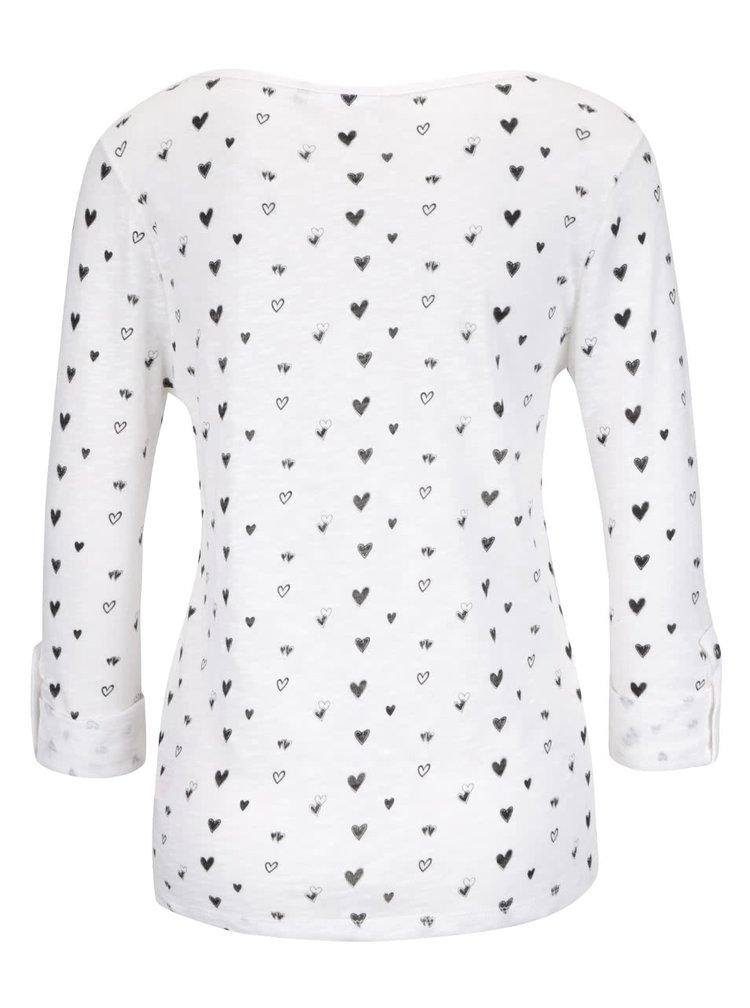 Bluză crem ONLY Jess din bumbac cu imprimeu