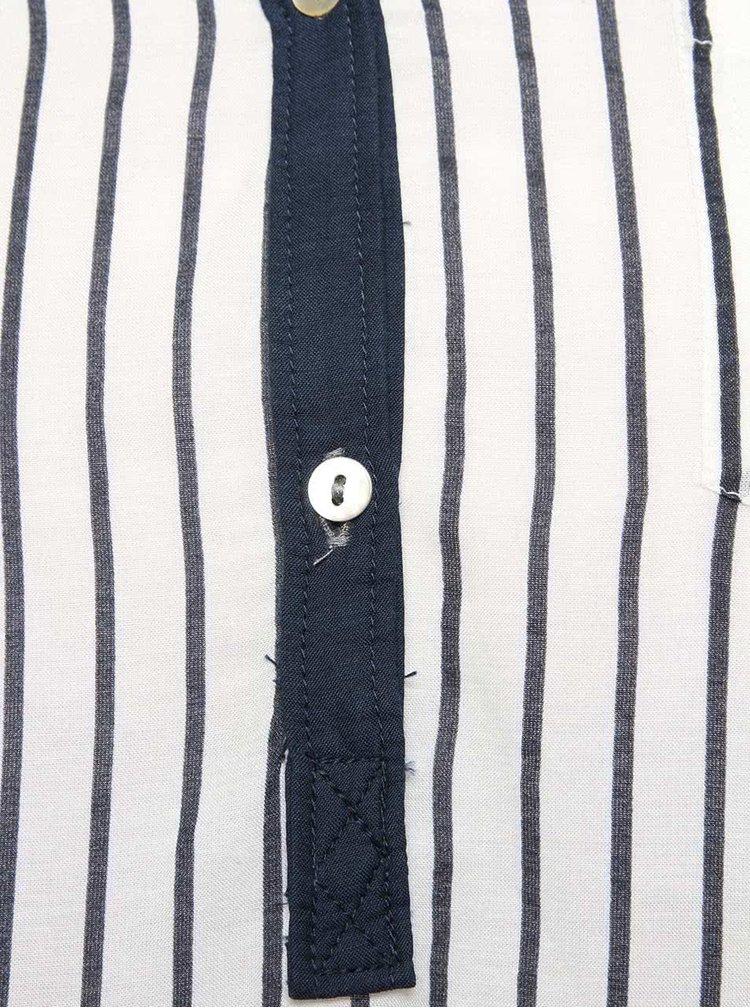 Camasa tunica alb cu bleumarin VERO MODA Charlene