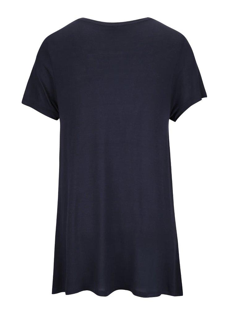 Tricou albastru ONLY Viscose cu imprimeu