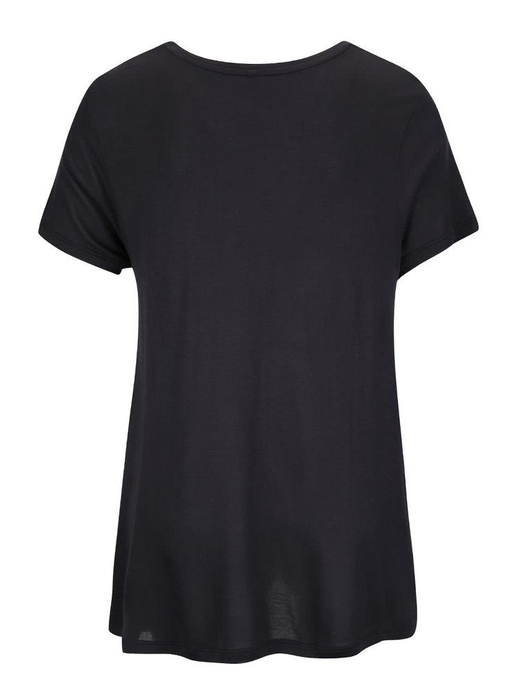Čierne tričko s potlačou ONLY Viscose