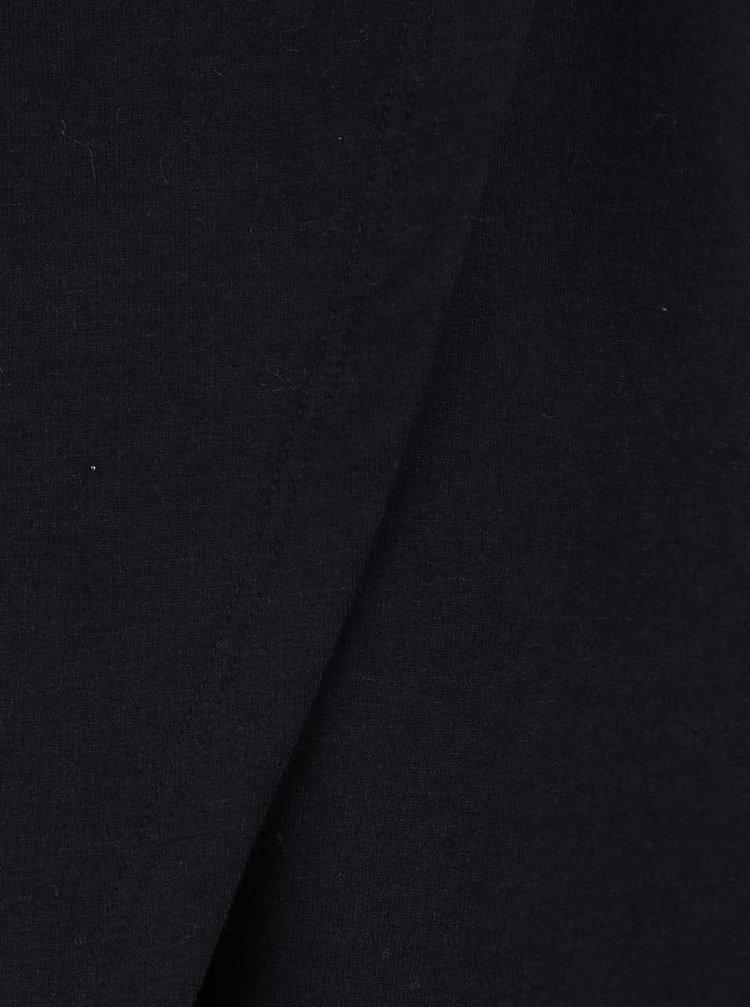 Černá dlouhá asymetrická mikina ONLY Vivi