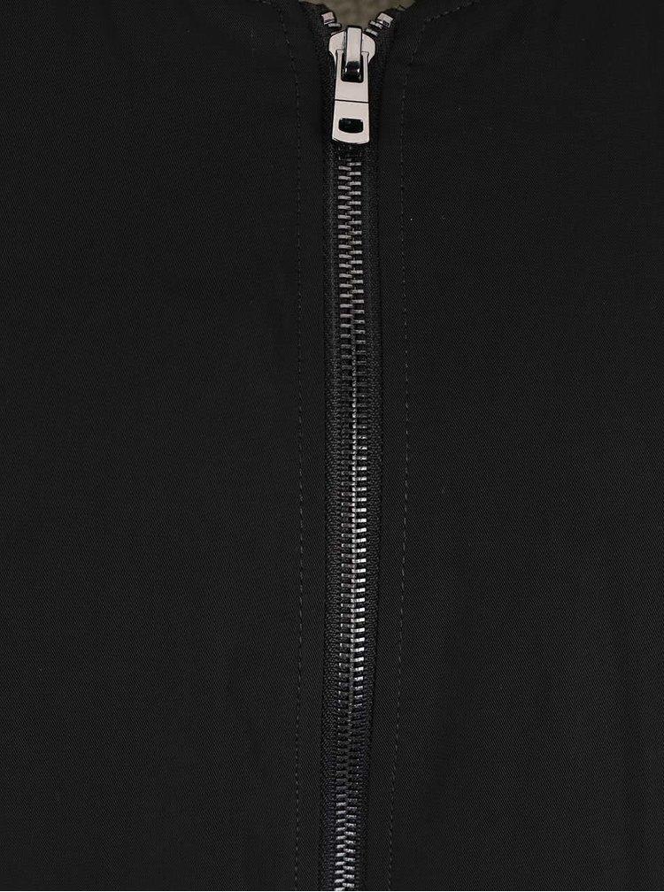 Černá delší bunda ONLY Fulton