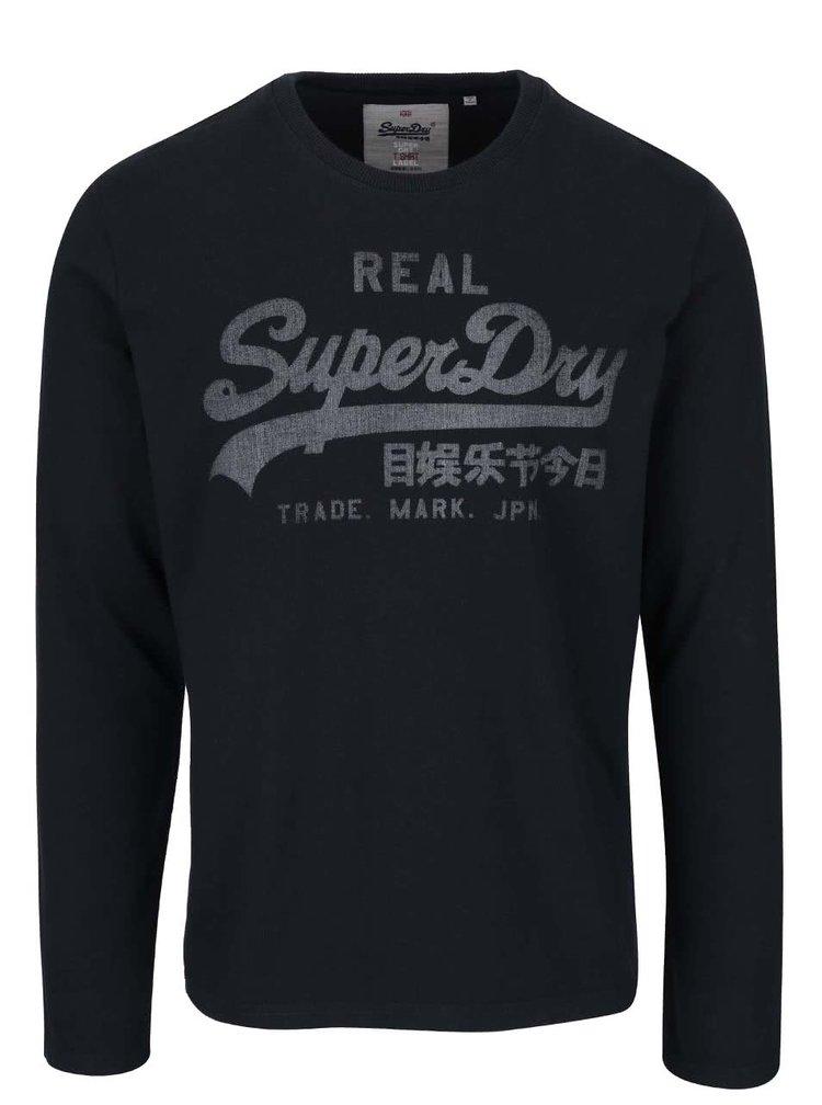 Tmavomodré pánske tričko s logom Superdry