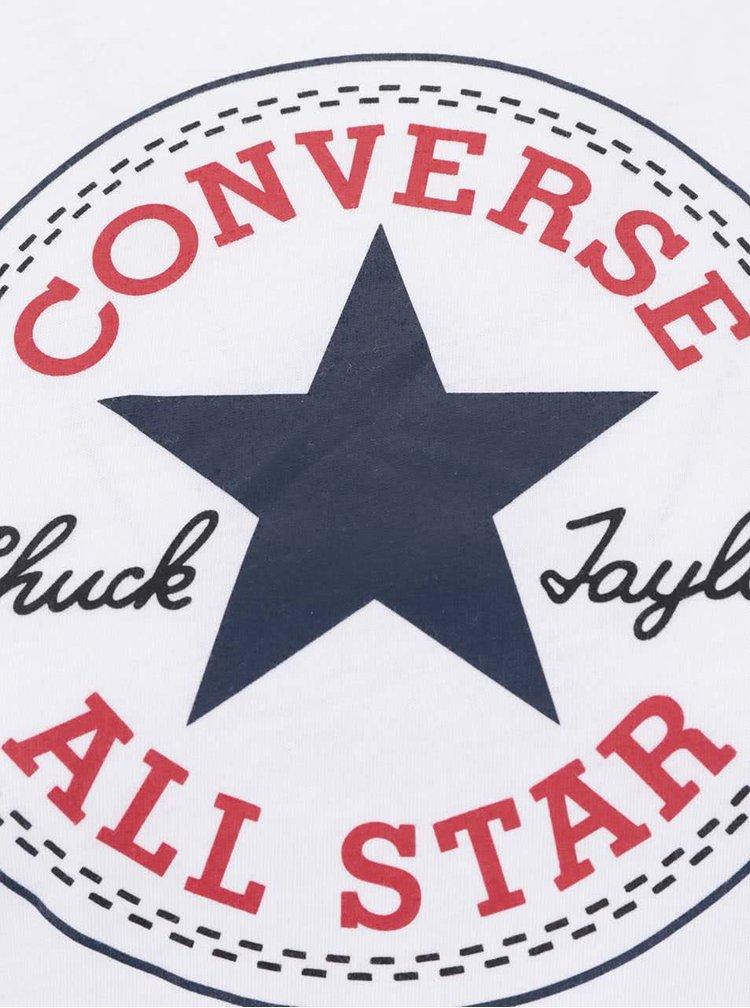 Biele dámske tričko s logom Converse Core