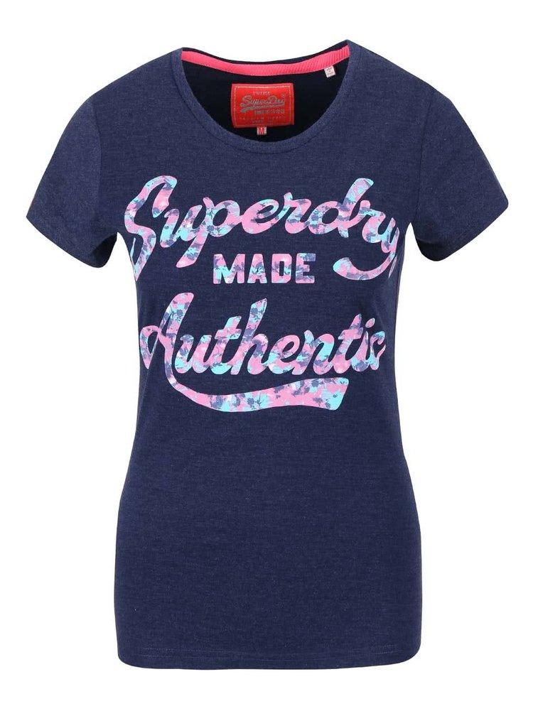 Tricou bleumarin Superdry cu text
