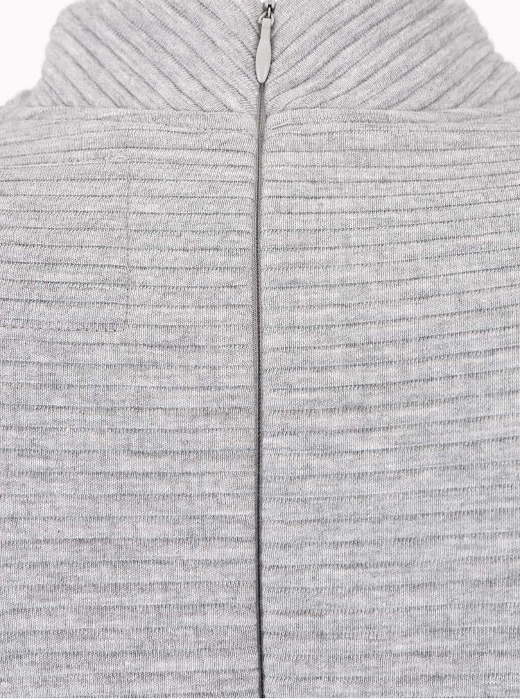 Šedé žebrované šaty Superdry