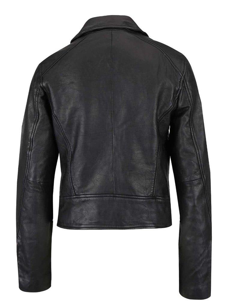 Jachetă neagră de piele Superdry