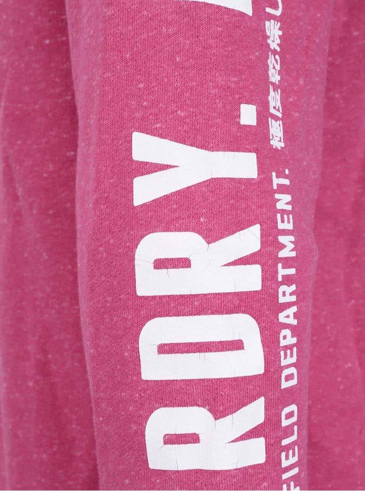 Hanorac roz Superdry cu fermoar