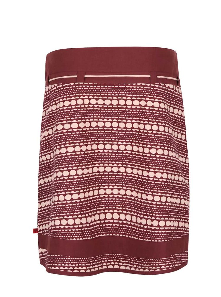 Růžovo-vínová vzorovaná sukně Tranquillo Albom