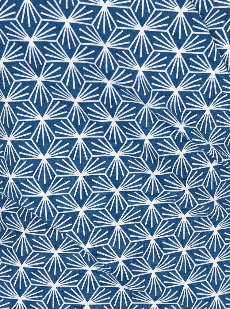 Modré vzorované zavinovacie šaty Tranquillo Jamala