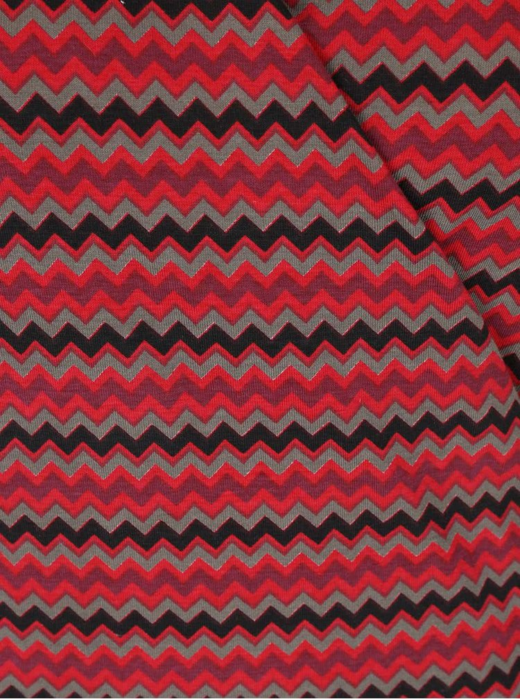Červené vzorované zavinovacie šaty Tranquillo Jamala