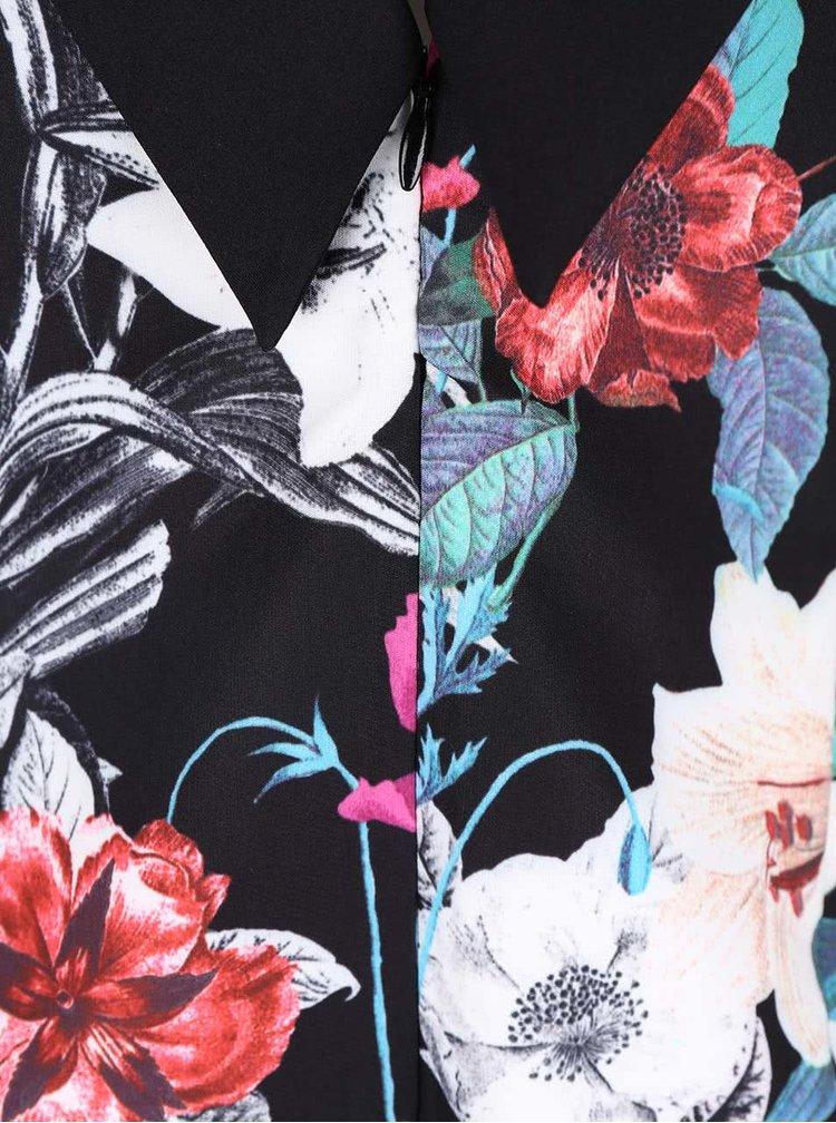Rochie cu imprimeu floral Little Mistress neagra