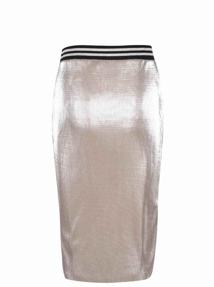 Plisovaná sukňa v zlatej farbe Miss Selfridge