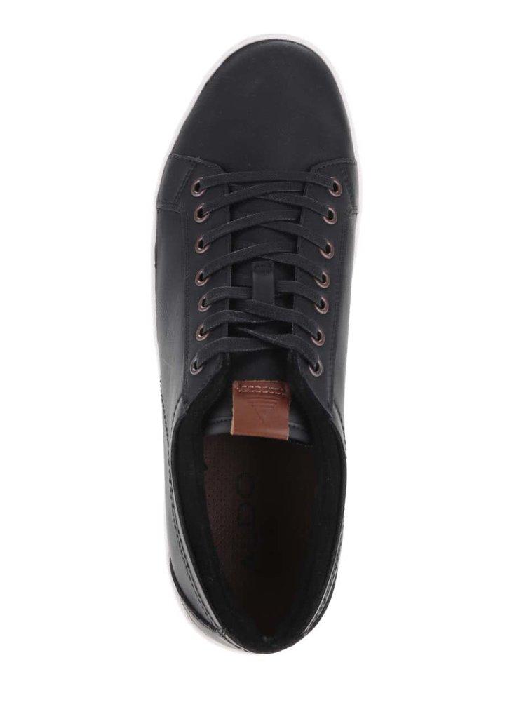 Černé pánské kožené tenisky ALDO Sigrun