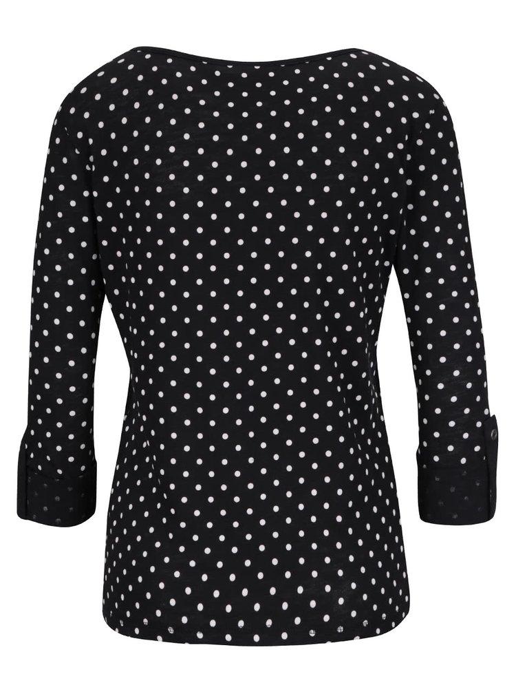 Černé tričko s puntíky ONLY Jess
