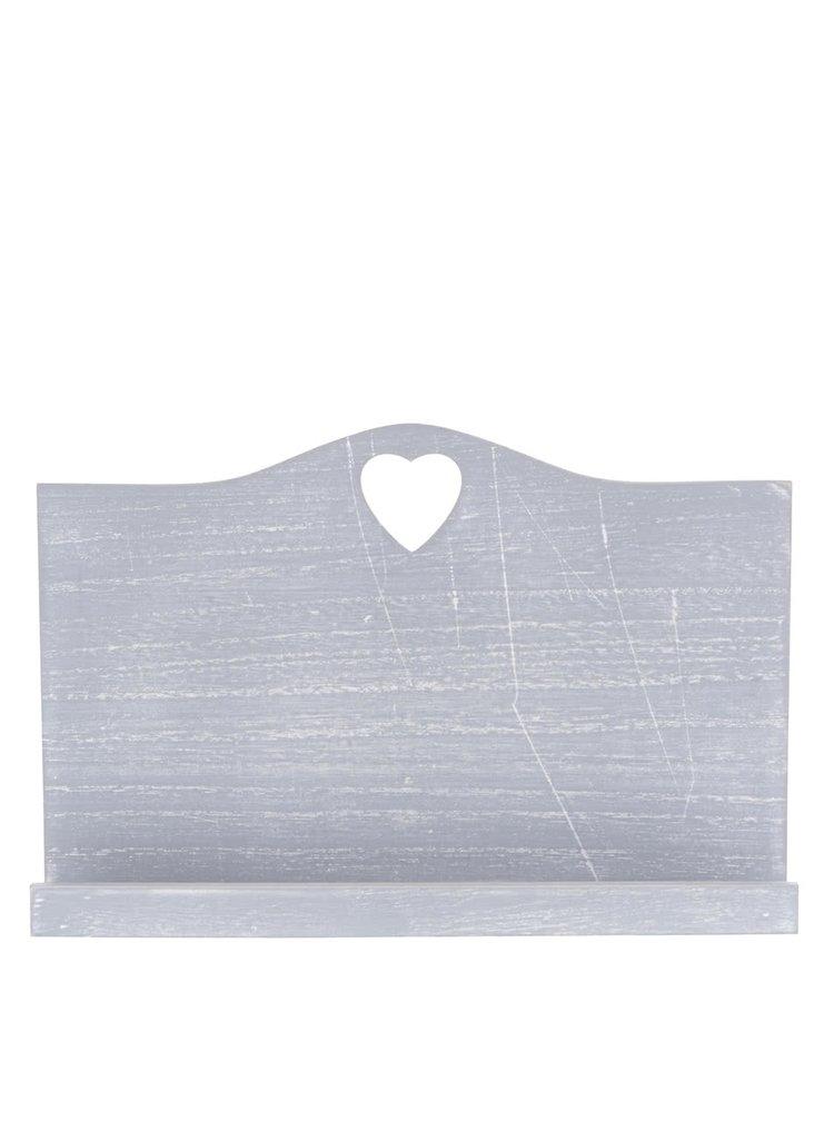 Suport carte de bucate gri Dakls din lemn