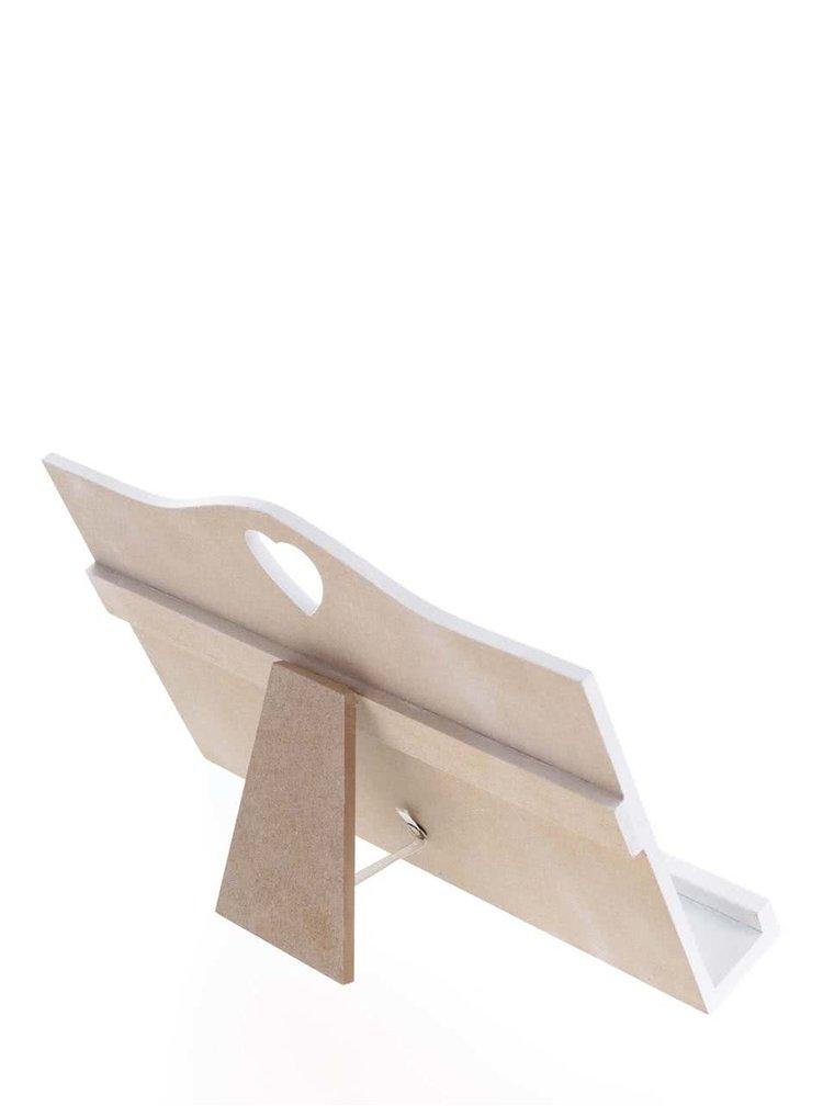 Suport carte de bucate alb Dakls din lemn