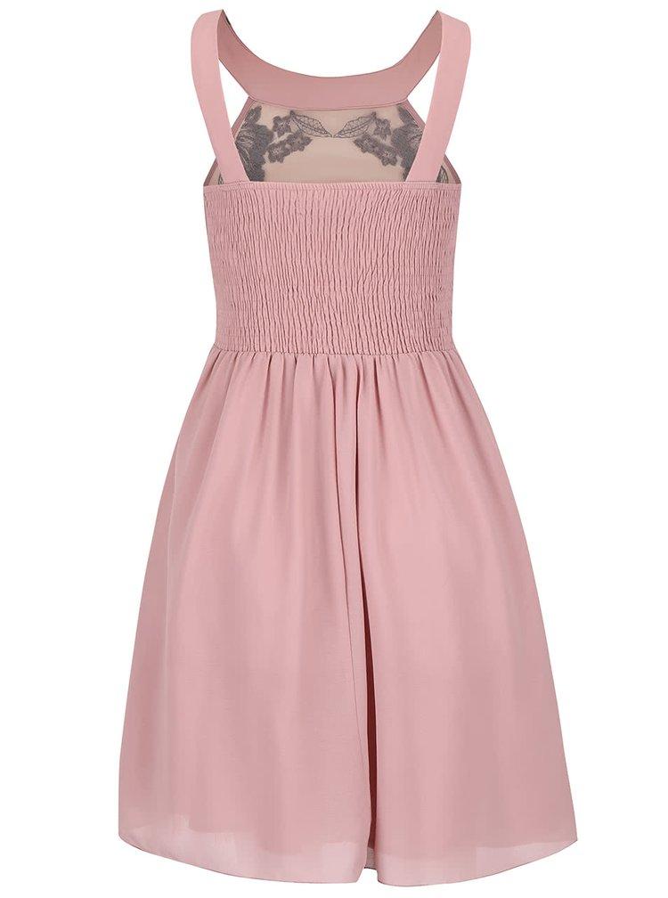 Staroružové šaty s kvetovaným detailom Little Mistress