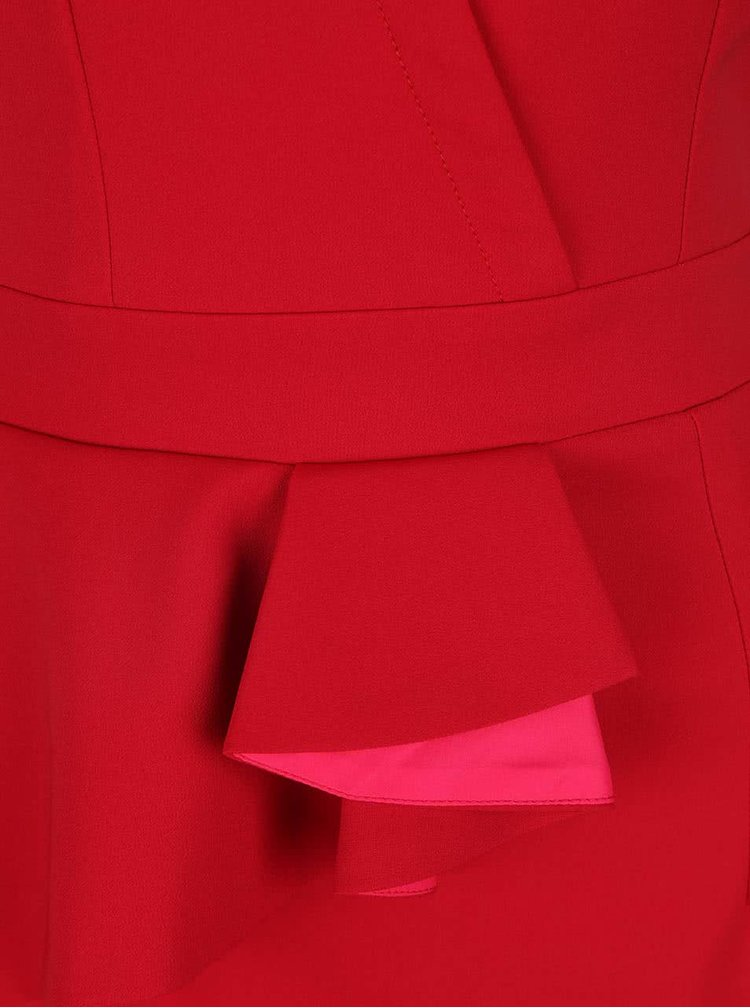Rochie cu peplum Little Mistres roșie