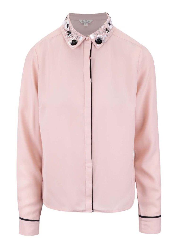 Bluză roz Miss Selfridge cu detalii decorative