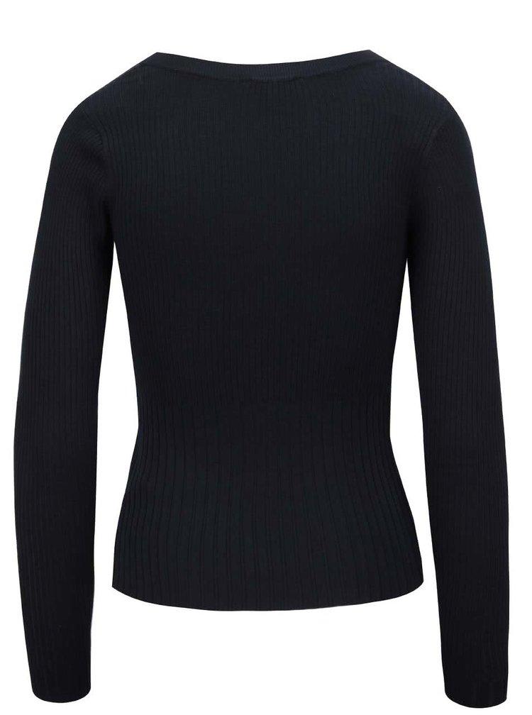 Tmavě modrý svetr s dlouhým rukávem Miss Selfridge