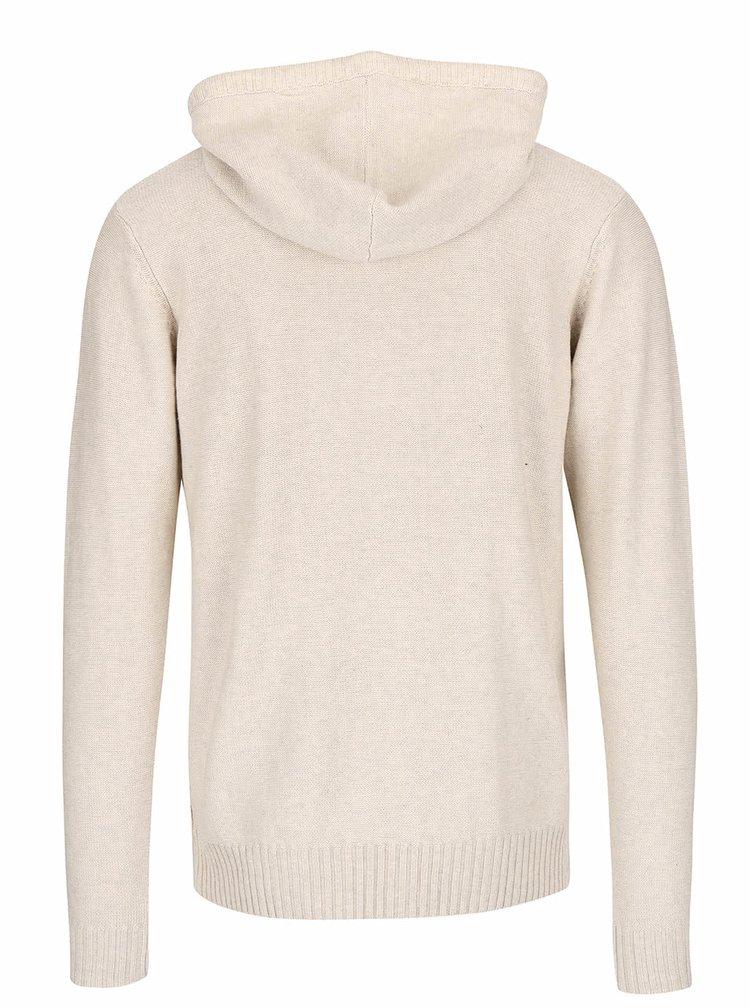 Béžový sveter s kapucňou ONLY & SONS Daniel