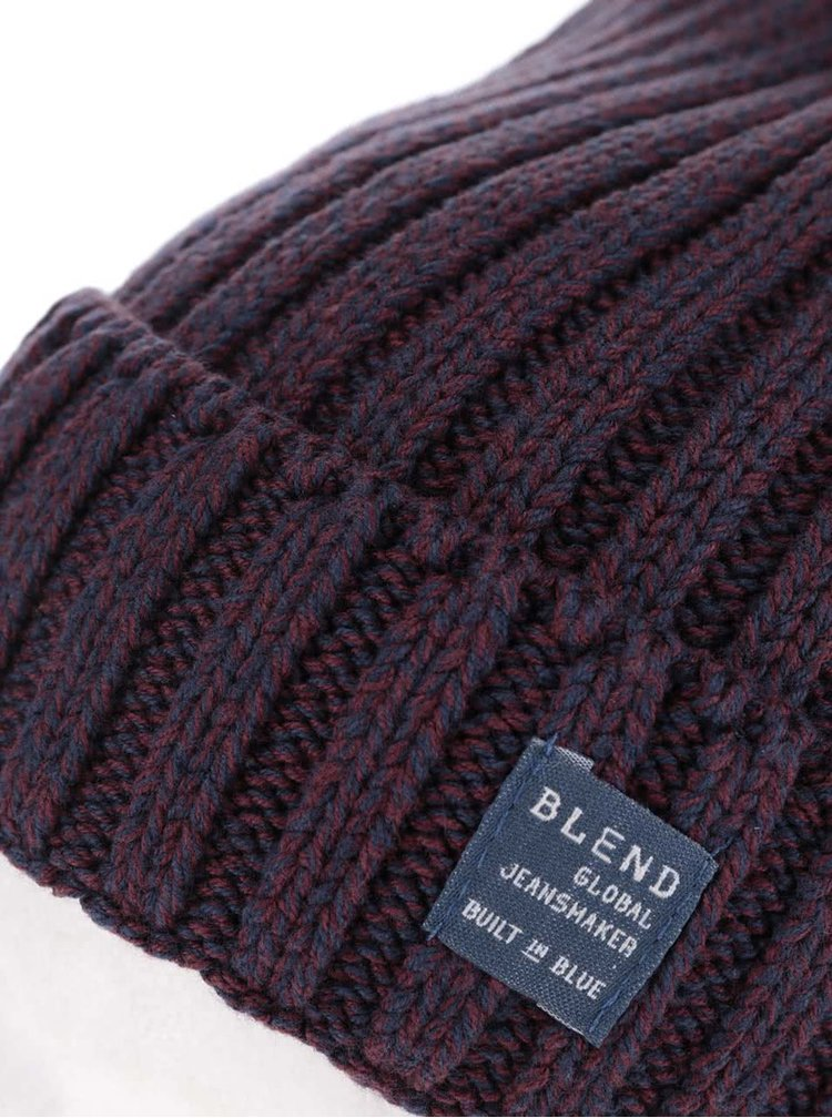Vínová pletená čepice Blend