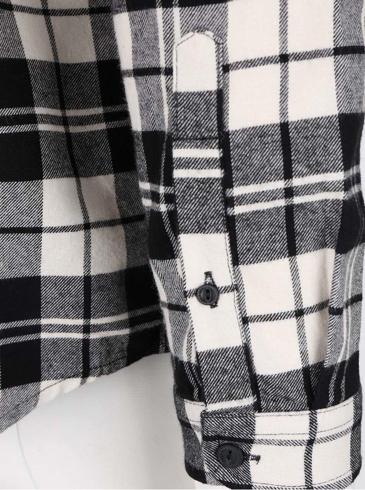 Cămașă crem ONLY & SONS Sven în carouri negre
