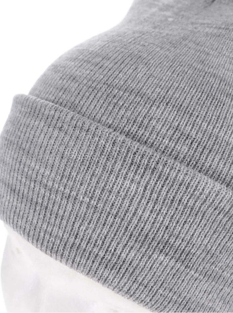 Šedá zimní čepice s ohrnutým lemem Blend