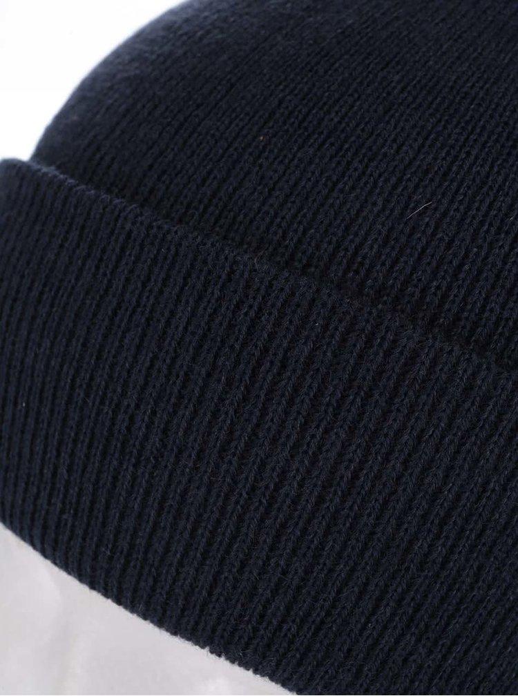 Tmavomodrá zimná čiapka s vyhrnutým lemom Blend