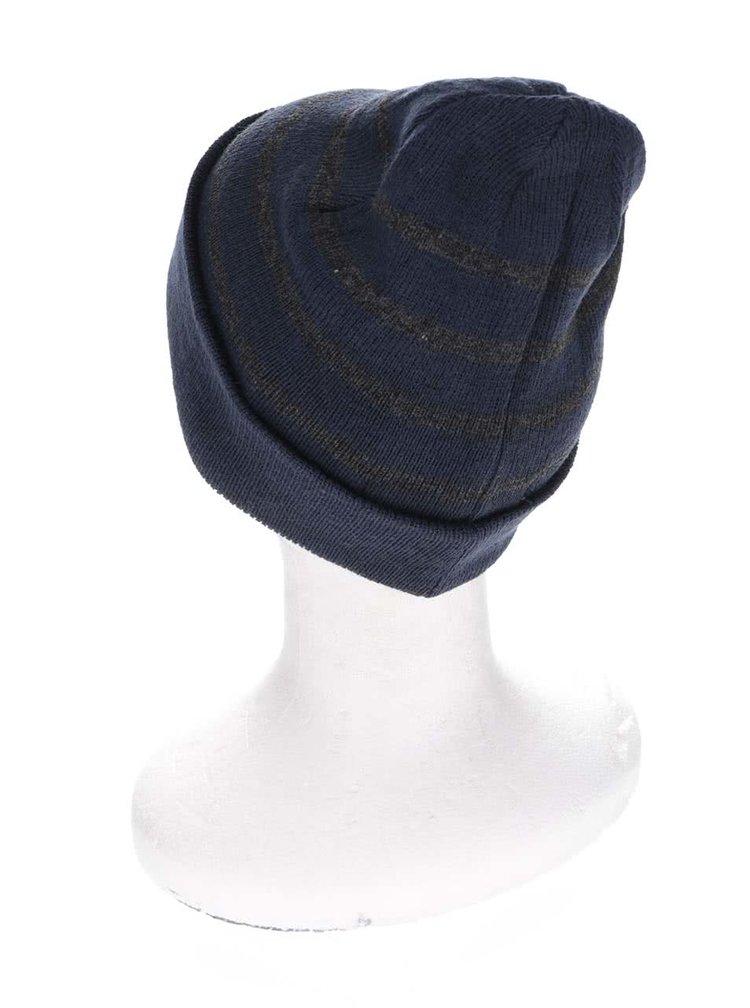 Tmavomodrá čiapka so sivými pruhmi Blend