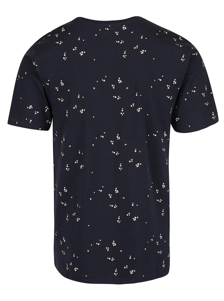Tmavomodré tričko so vzorom ONLY & SONS Nader