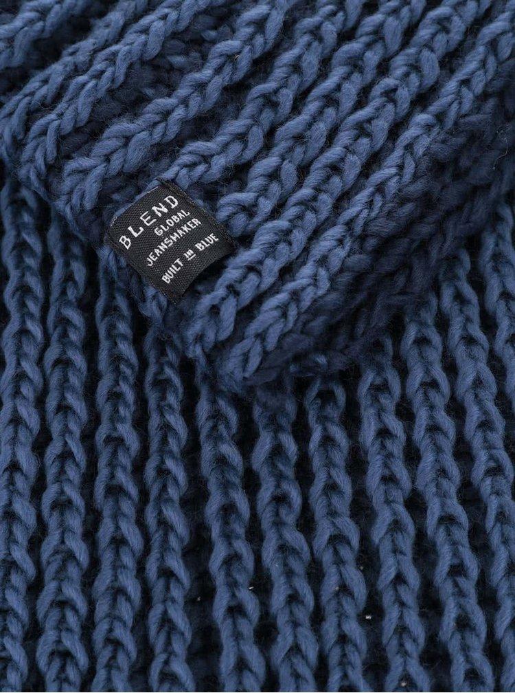 Fular albastru Blend circular