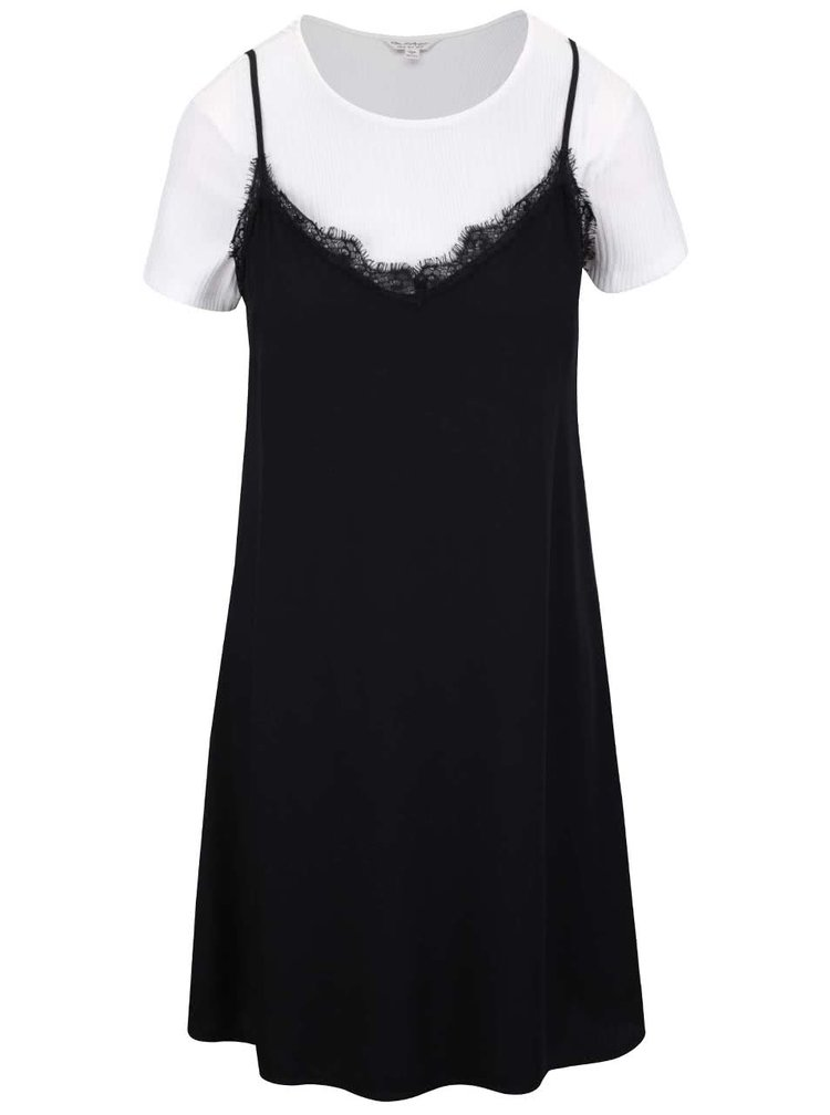 Bielo-čierne šaty Miss Selfridge