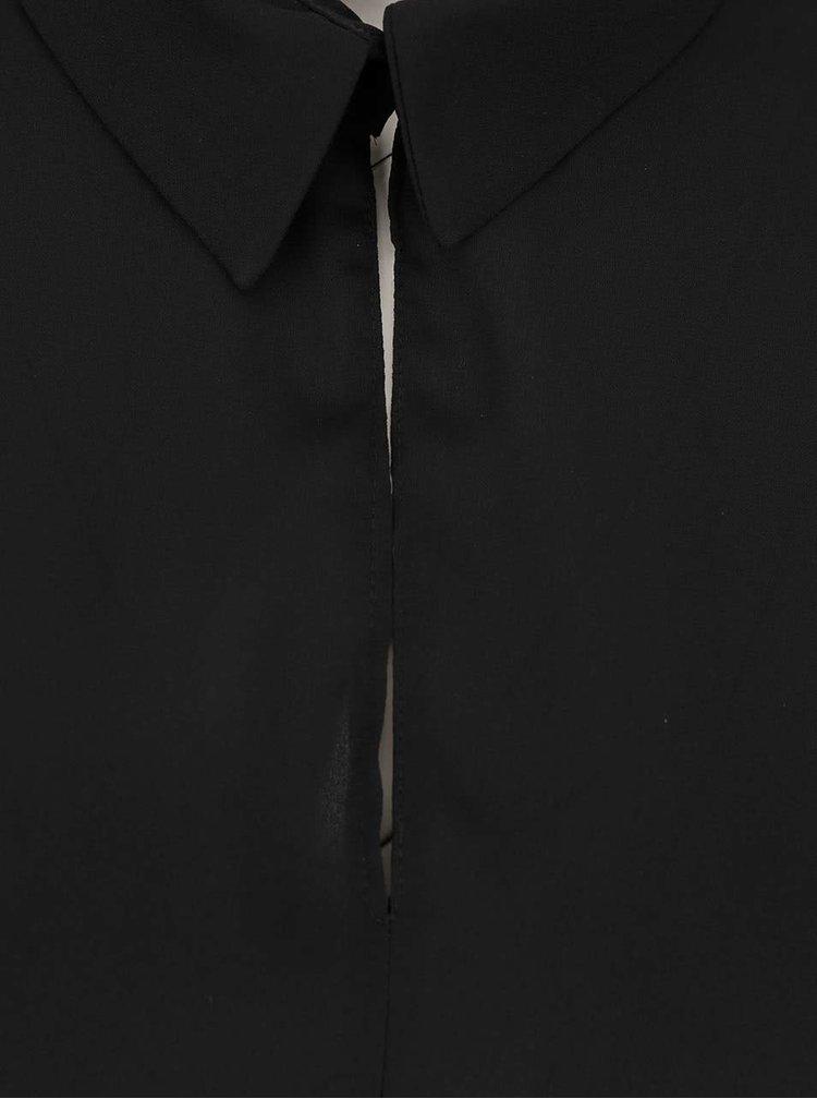 Černá halenka s 3/4 rukávem Dorothy Perkins