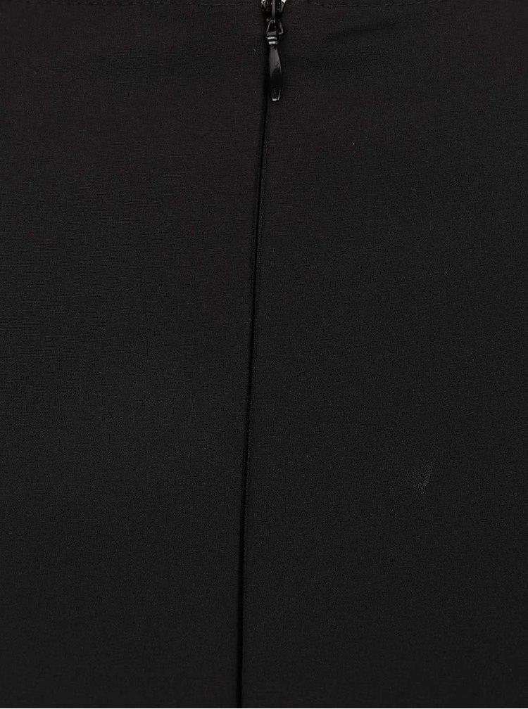 Černý overal se síťovaným výstřihem Dorothy Perkins