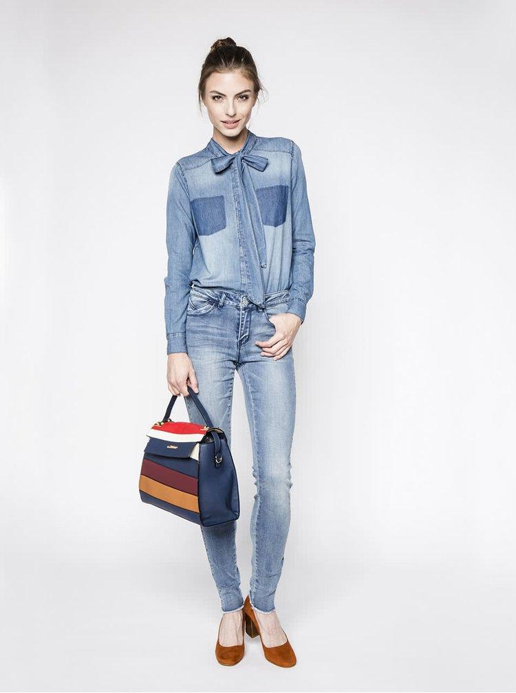 Modrá džínová košile s mašlí ONLY Kulla