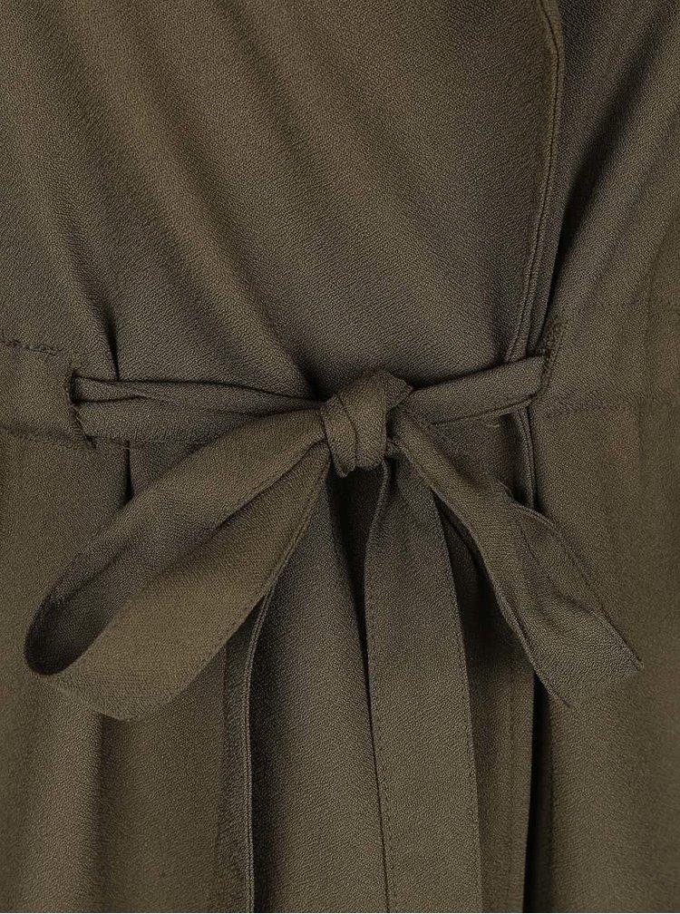 Khaki vesta se stahováním v pase LYDC