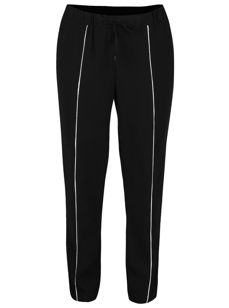Černé kalhoty s bílým proužkem Dorothy Perkins