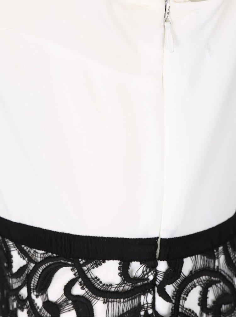 Černo-bílé šaty s krajkou Dorothy Perkins