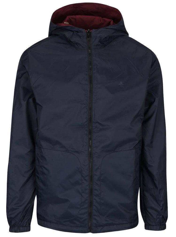 Modro-vínová obojstranná bunda s kapucňou Original Penguin Reversible