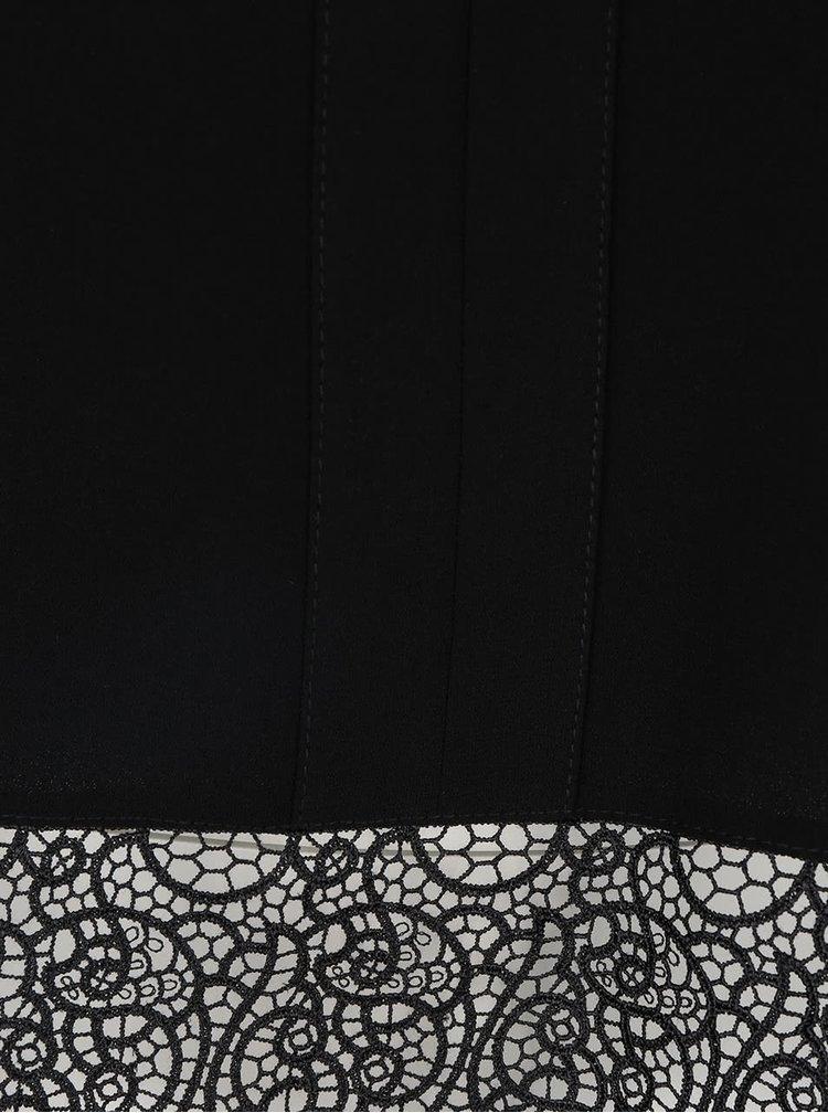 Černá halenka s krajkovým spodním lemem Dorothy Perkins