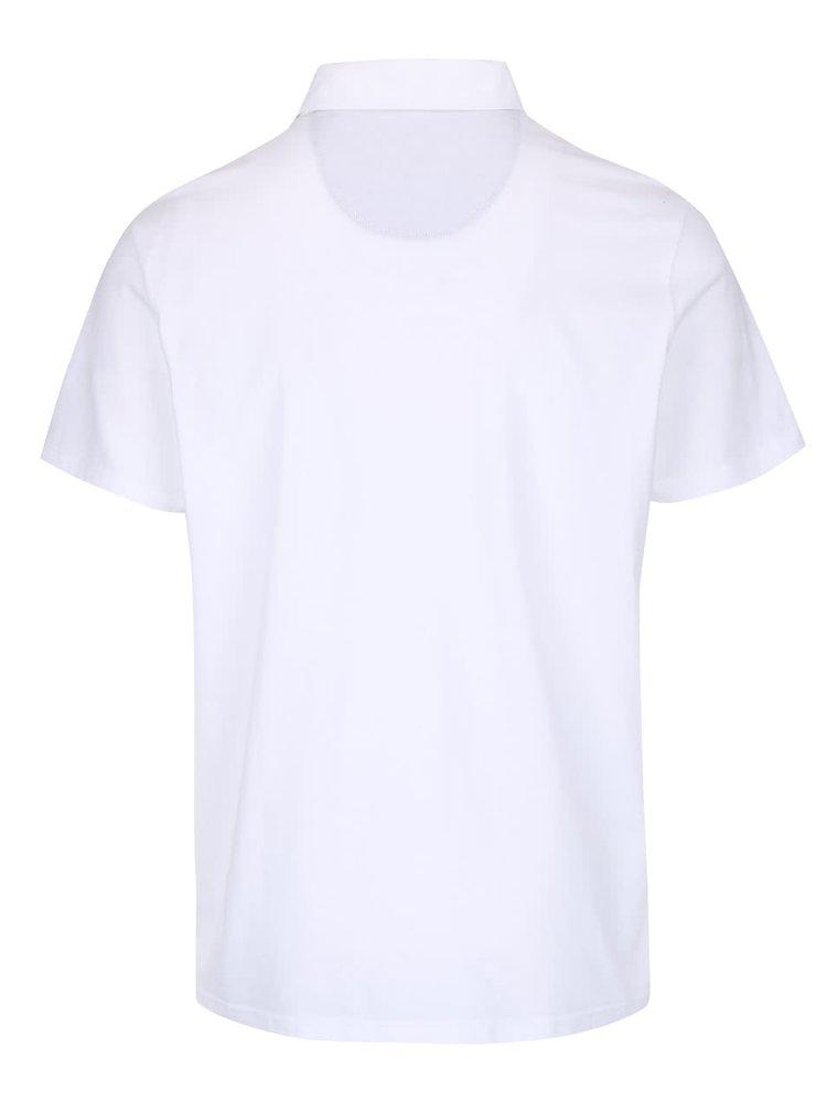 Bílé polo triko Burton Menswear London