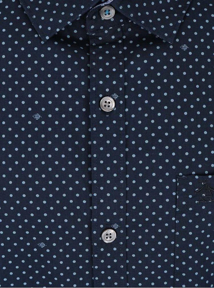 Tmavomodrá košeľa s bodkami Original Penguin Chambray