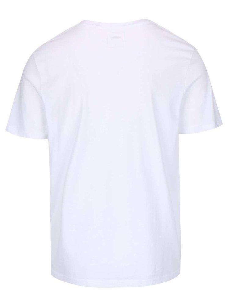 Biele tričko s potlačou Burton Menswear London