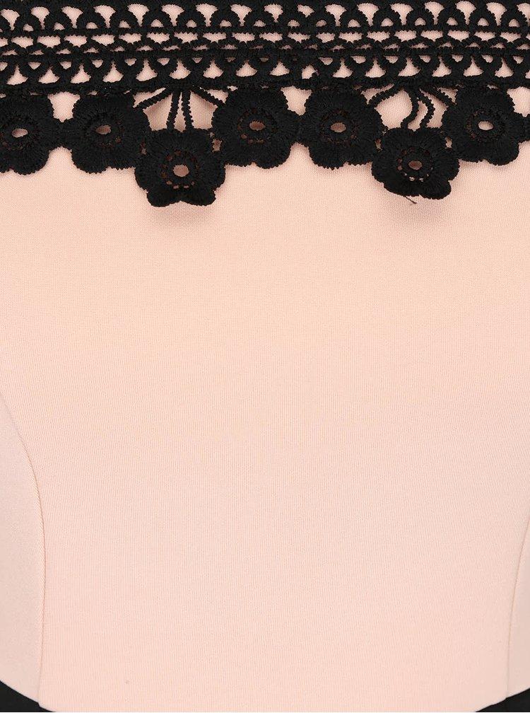 Rochie roz cu negru Dorothy Perkins cu decolteu pe umeri