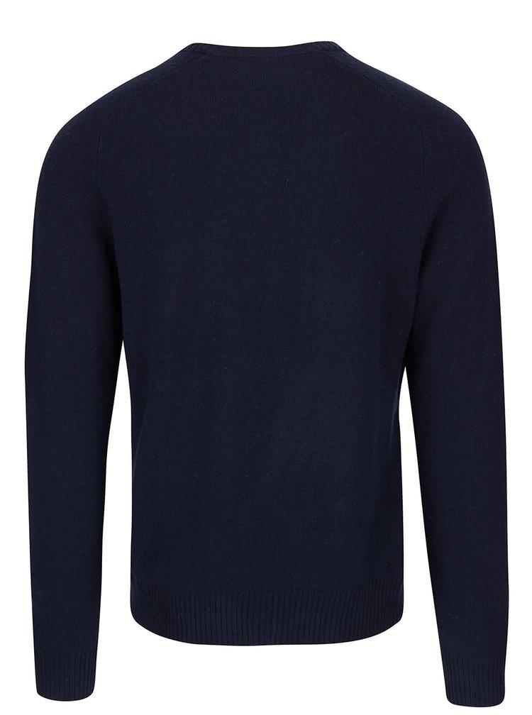 Tmavomodrý vlnený sveter Original Penguin Saddle Raglan