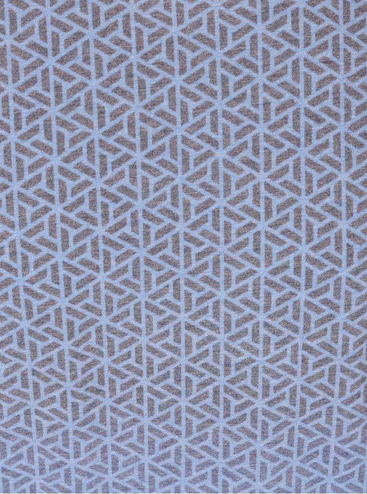 Šedo-modré vzorované triko Burton Menswear London